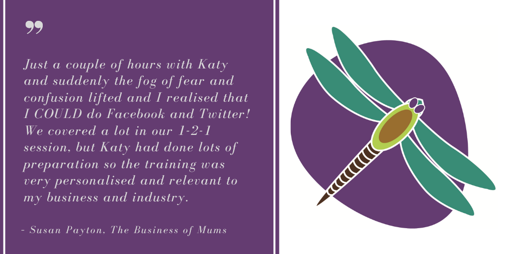 Chichester Copywriter Social Media Marketing Training Testimonial – Susan Payton, The Business of Mums
