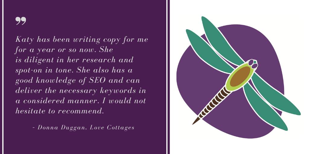 Chichester Copywriter SEO Copywriting Testimonial – Donna Duggan, Love Cottages