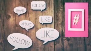 Social media engagement – follow, like, share, hashtag