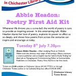 Abbie Headon at Chichester Library