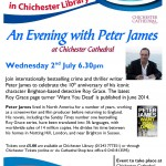 Evening with Peter James at Chichester Cathedral