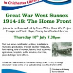 Great War West Sussex at Chichester Library