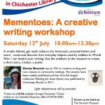 Mementoes Creative Writing Workshop at The Novium Chichester