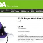 Asda Halloween Witch Headband Product Description
