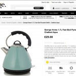 Asda Electrical Pyramid Kettle Product Description
