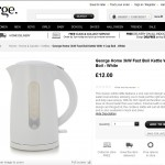Asda White Electrical Kettle Product Description