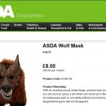 Asda Halloween Wolf Mask Product Description