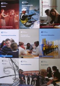 University of Chichester Departmental Brochures
