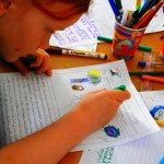 Child drawing at Story Factory Chichester Photo By K Lassetter