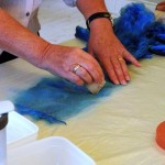 Making Tussah Silk Paper 3