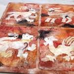 Sue Clark's Silk Paper Roman Tiles