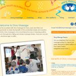 Story Massage website screenshot