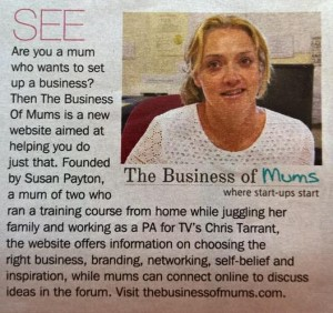The Business of Mums in Sunday Express Magazine